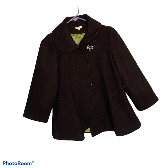 Kate Spade New York Black 100% wool pea coat